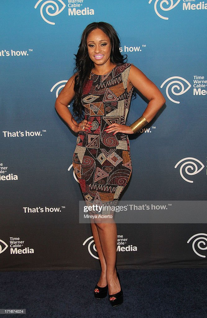 Tahiry Jose attends the Time Warner Cable 'View From The Top' Media Upfront at Frederick P. Rose Hall, Jazz at Lincoln Center on June 27, 2013 in New York City.
