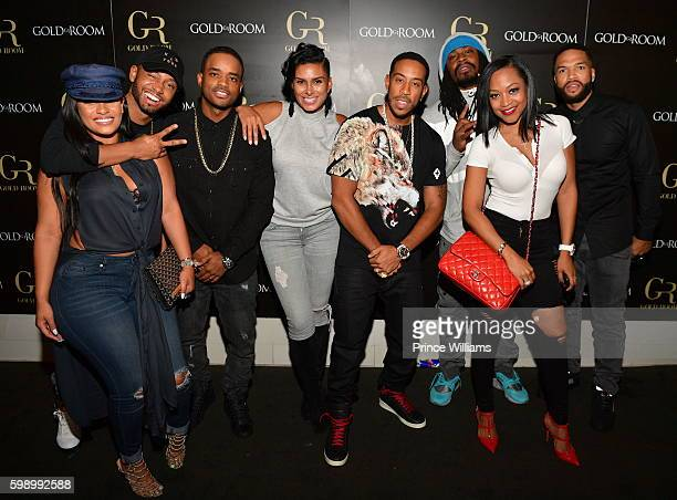 Tahiry Jose Terrence Jenkins Larenz Tate Laura Govan Ludacris Marshawn Lynch Monyetta Shaw and Vince attend the LudaDay Weekend at Gold Room on...