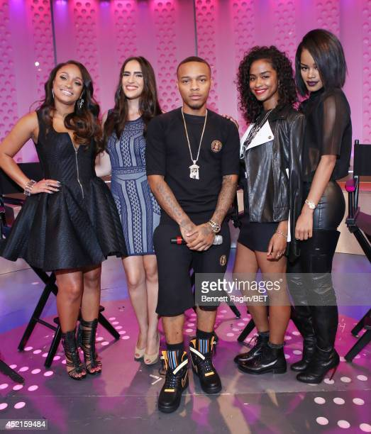 Tahiry Mercedes Sanchez Bow Wow Vashtie and Teyana Taylor visit 106 Park at Bet studio on July 14 2014 in New York City