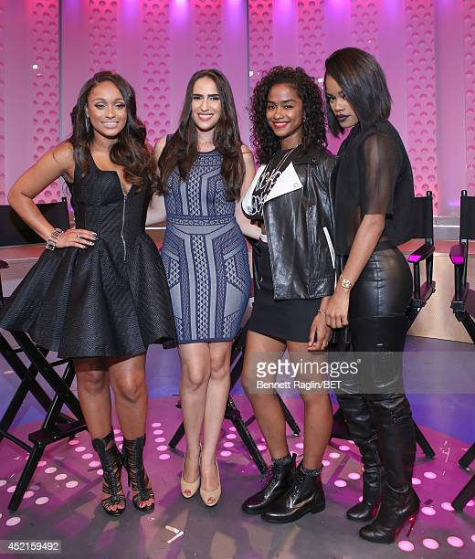 Tahiry Mercedes Sanchez Vashtie and Teyana Taylor visit 106 Park at Bet studio on July 14 2014 in New York City