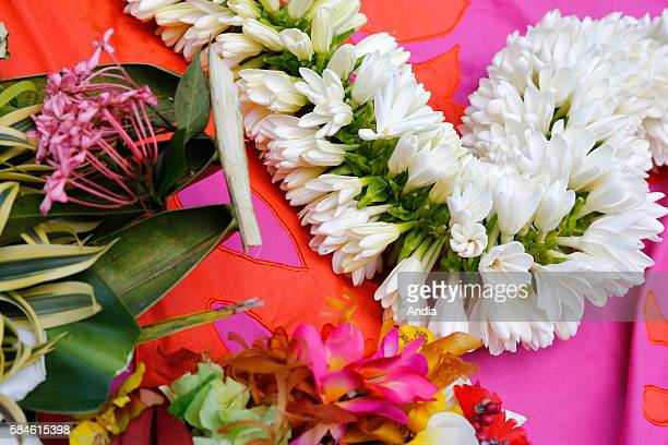 Annual traditional making of Tiara flower crowns for celebrations The Tahitian Gardenia or Tiare Flower is the emblem of French Polynesia and is used...