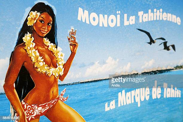 La Tahitienne monoi poster Monoi made of tiare flowers macerated in coconut oil<>The tiare flower is the national emblem of French Polynesia