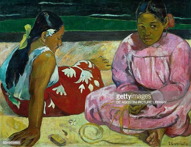 Tahitian women by Paul Gauguin oil on canvas 69x915 cm Paris Musée Du Louvre