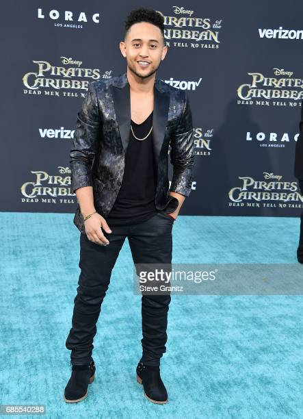 Tahj Mowry arrives at the Premiere Of Disney's 'Pirates Of The Caribbean Dead Men Tell No Tales' at Dolby Theatre on May 18 2017 in Hollywood...