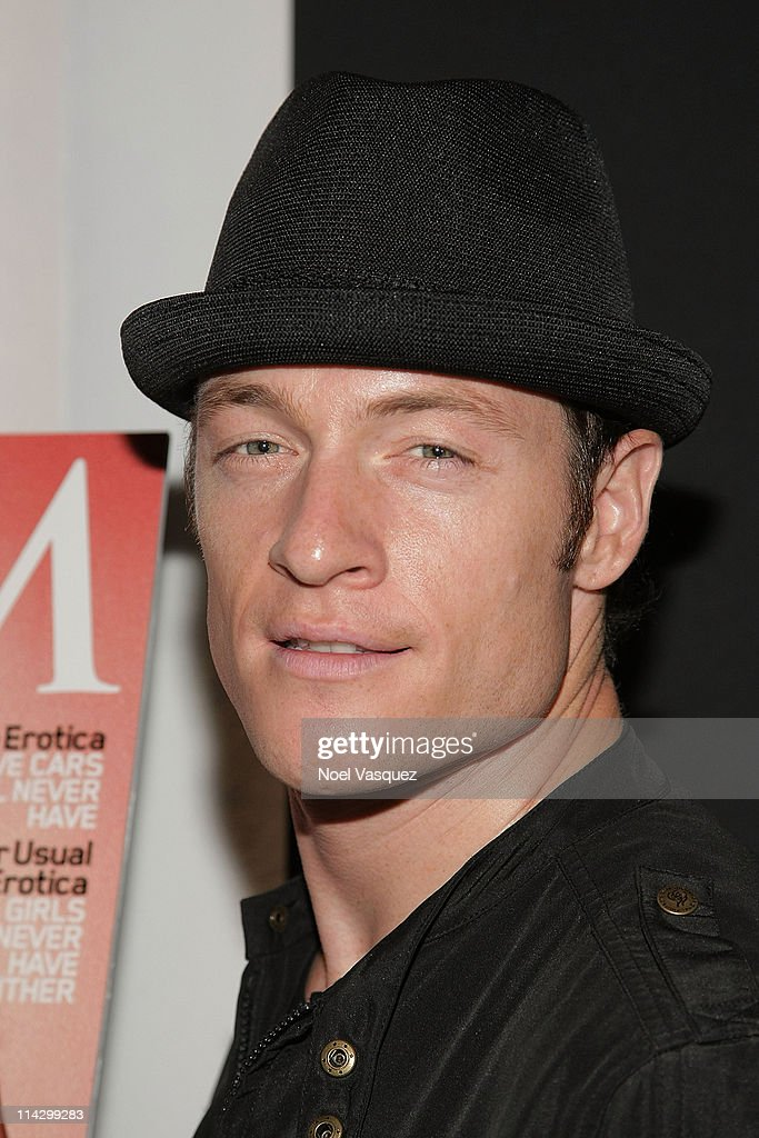 Tahmoh Penikett attends <a gi-track='captionPersonalityLinkClicked' href=/galleries/search?phrase=Tricia+Helfer&family=editorial&specificpeople=227945 ng-click='$event.stopPropagation()'>Tricia Helfer</a>'s Maxim Cover Party hosted by SBE at Mi-6 Night club on October 20, 2009 in West Hollywood, California.