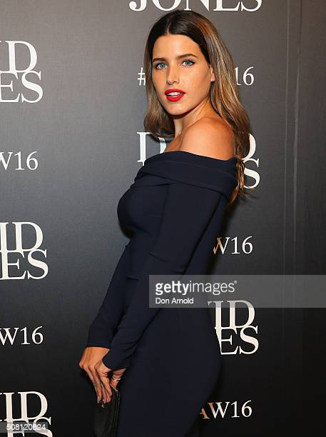 Tahnee Atkinson arrives ahead of the David Jones Autumn/Winter 2016 Fashion Launch at David Jones Elizabeth Street Store on February 3 2016 in Sydney...