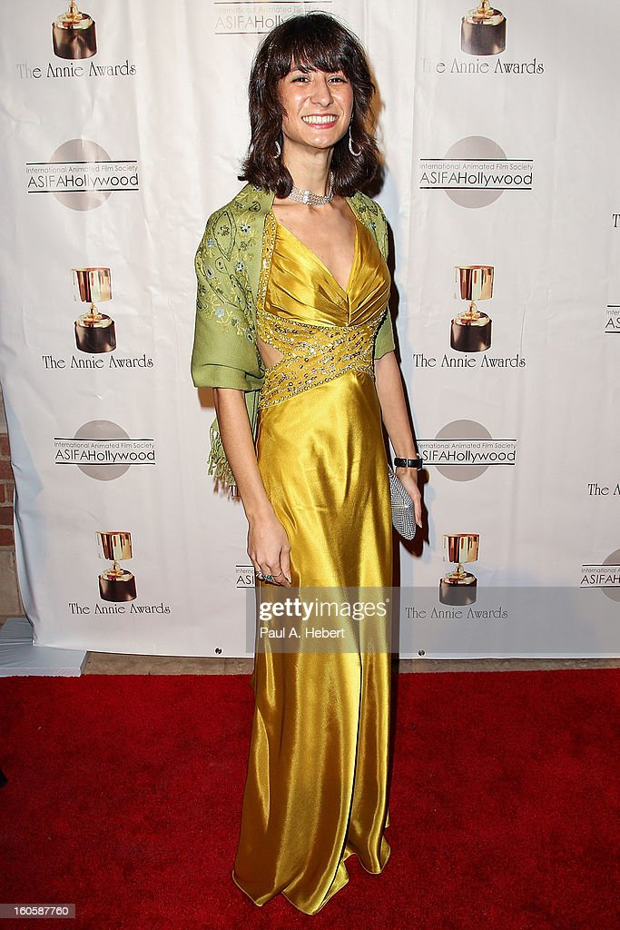 Tahnee Gehm arrives at the 40th Annual Annie Awards held at Royce Hall on the UCLA Campus on February 2, 2013 in Westwood, California.