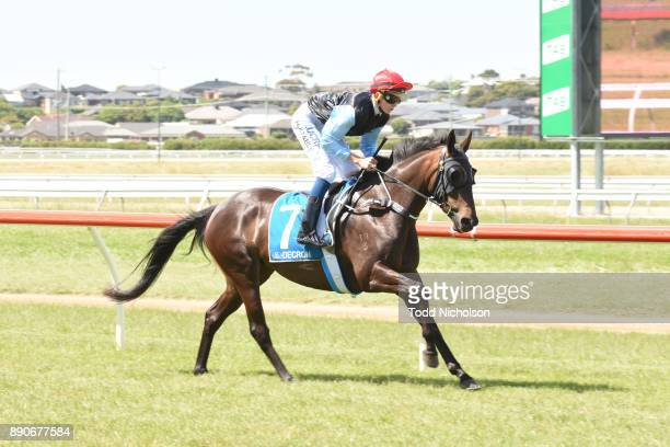 Tahnee Tiara ridden by Justin Huxtable goes out for the Premier Speedway FM BM58 Handicap at Warrnambool Racecourse on December 12 2017 in...