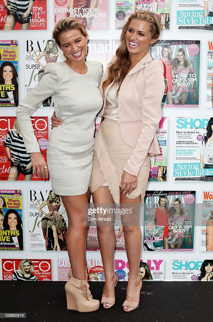 Tahyna Tozzi and Cheyenne Tozzi attend Fashion Show Day during 30 Days of Fashion and Beauty at The Entertainment Quarter on September 4 2010 in...