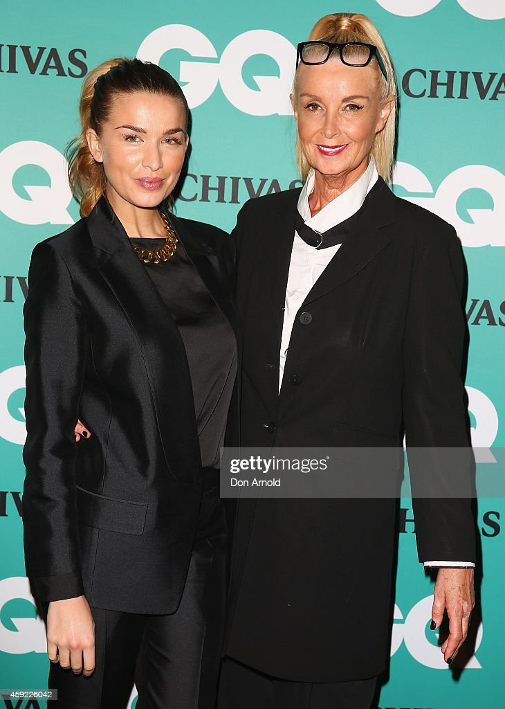 Tahyna Tozzi and Yvonee Tozzi arrive for the GQ Men Of The Year Awards 2014 at The Ivy on November 19 2014 in Sydney Australia