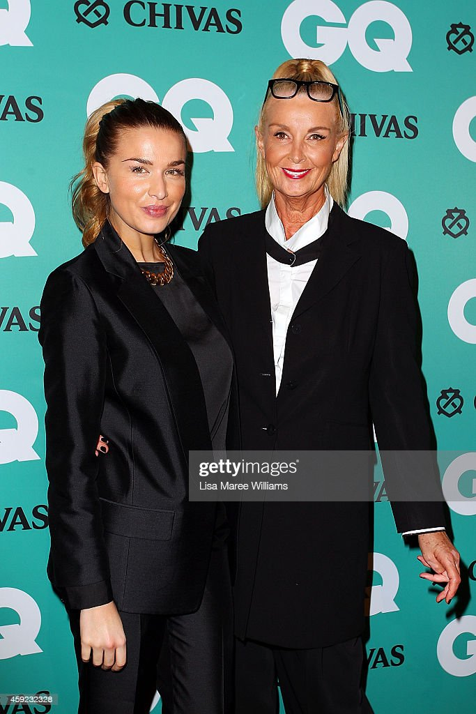 Tahyna Tozzi and Yvonee Tozzi arrives for the GQ Men Of The Year Awards 2014 at The Ivy on November 19 2014 in Sydney Australia