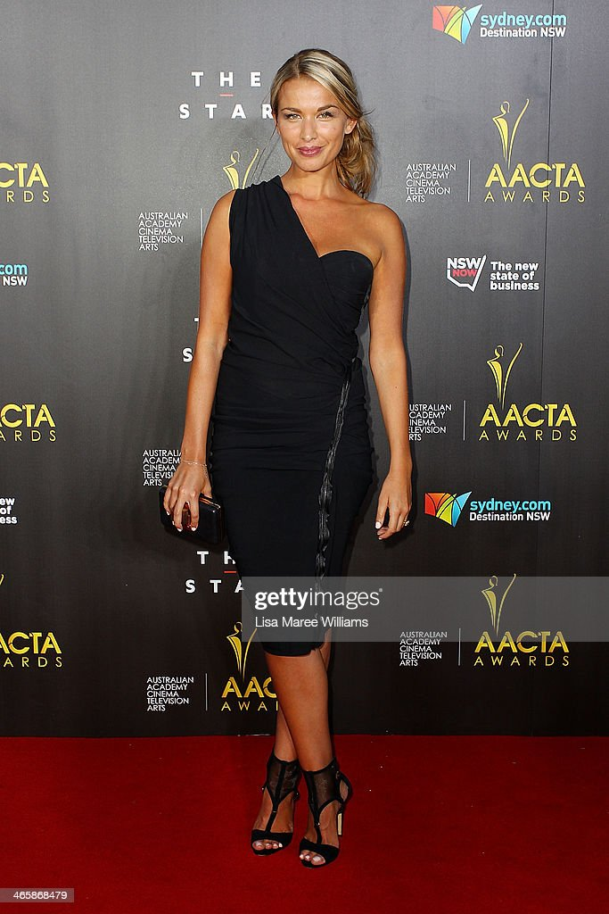 Tahyna Tozzi arrives at the 3rd Annual AACTA Awards Ceremony at The Star on January 30 2014 in Sydney Australia