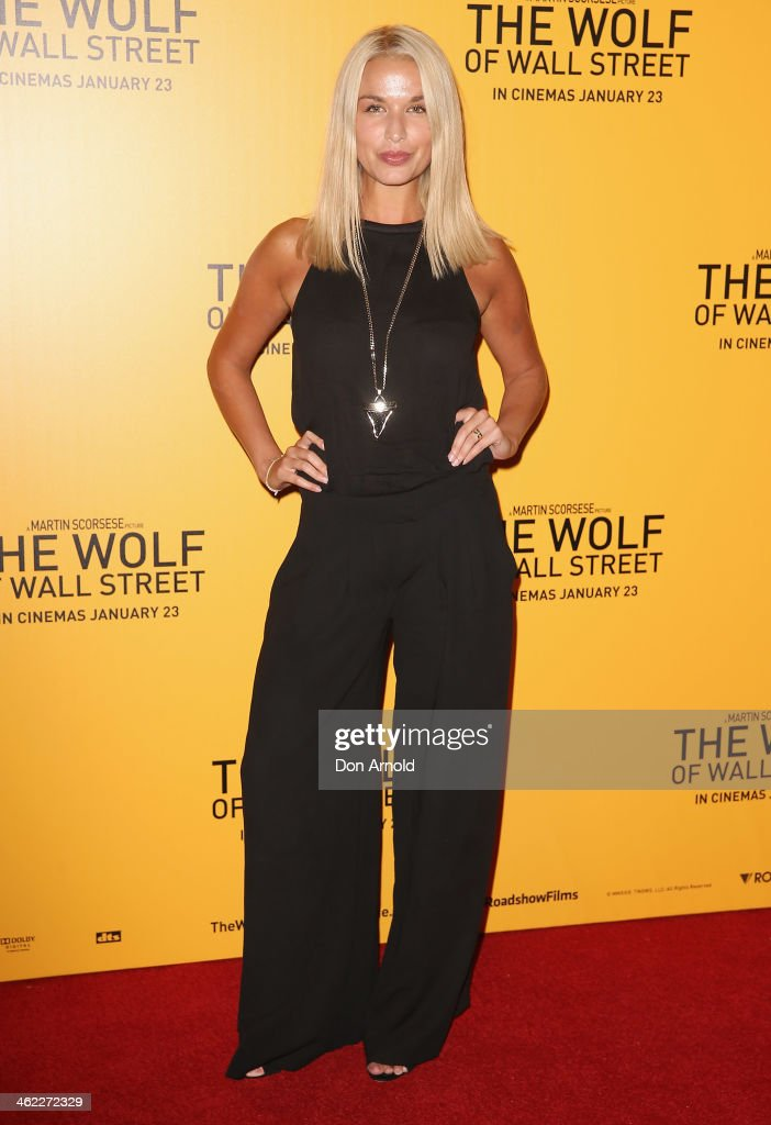 Tahyna Tozzi arrives at 'The Wolf Of Wall Street' Sydney Premiere at The Entertainment Quarter on January 13 2014 in Sydney Australia