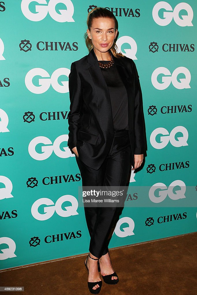 Tahyna Tozzi arrives for the GQ Men Of The Year Awards 2014 at The Ivy on November 19 2014 in Sydney Australia