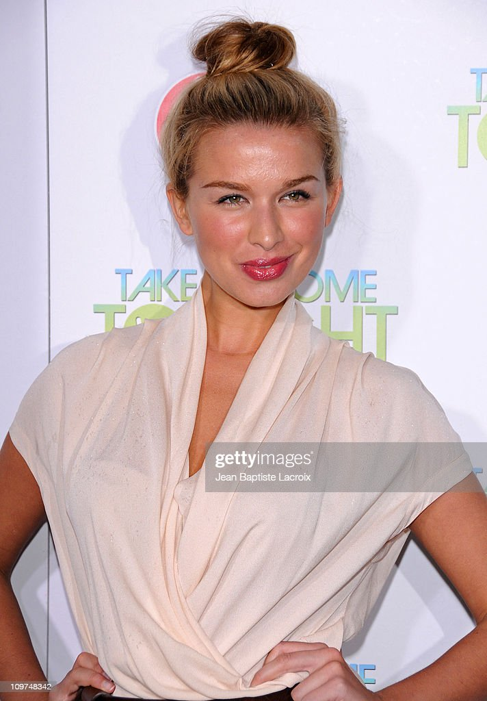 Tahyna Tozzi attends 'Take Me Home Tonight' premiere held at Regal 14 at LA Live Downtown on March 2 2011 in Los Angeles California