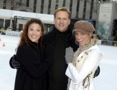 Tai Babilonia Dave Coulier and Deborah Gibson during The Stars of 'Skating With Celebrities' at Bryant Park at Bryant Park in New York City New York...