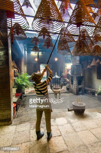Tai Po, Man Mo Temple : Stock Photo
