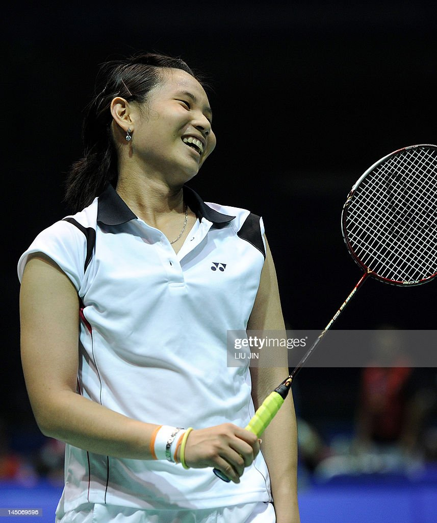 Tai Tzu Ying of Taiwan reacts against Su