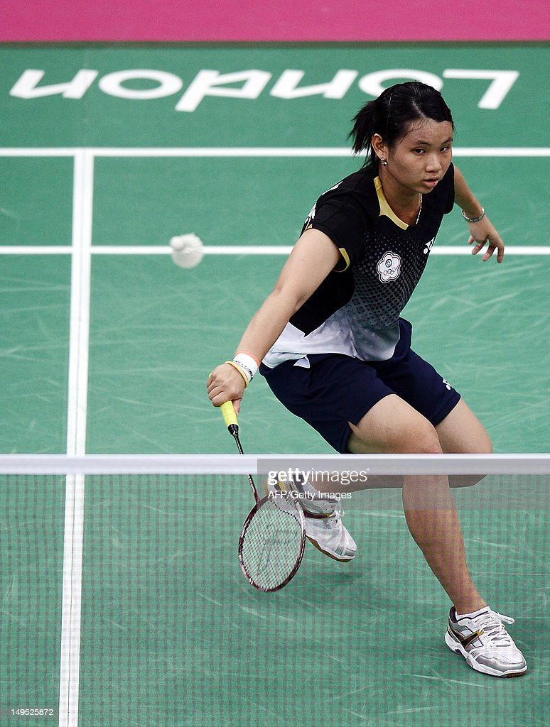 Tai Tzu Ying of Taiwan returns a shot to