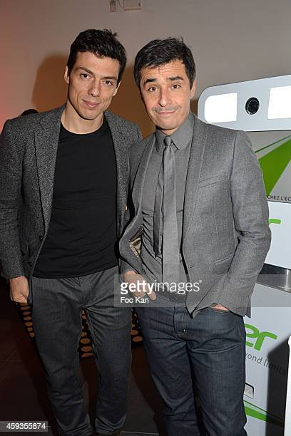 Taig Khris and Ariel Wizman attend the Acer Pop Up Store Launch Party at Les Halles on November 20 2014 in Paris France
