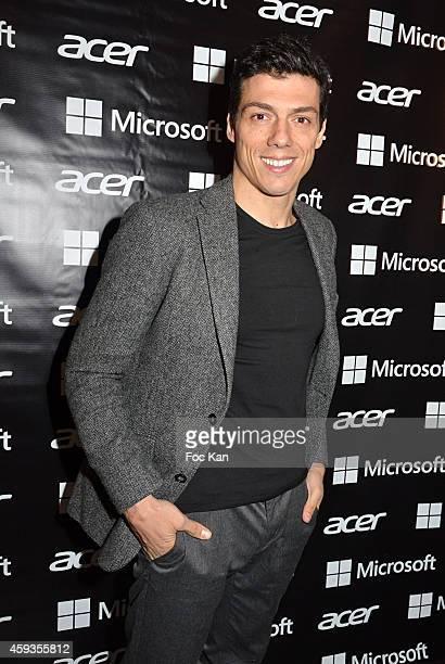 Taig Khris attends the Acer Pop Up Store Launch Party at Les Halles on November 20 2014 in Paris France