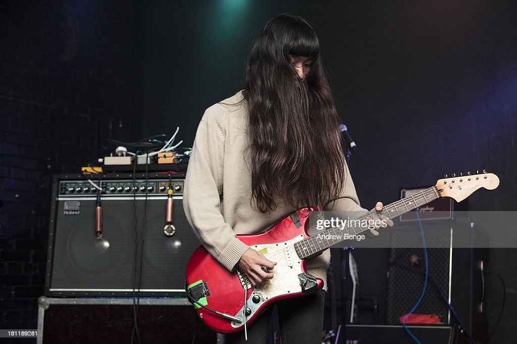 Taigen Kawabe of Xaviers performs on stage at Brudenell Social Club on September 19, 2013 in Leeds, England.