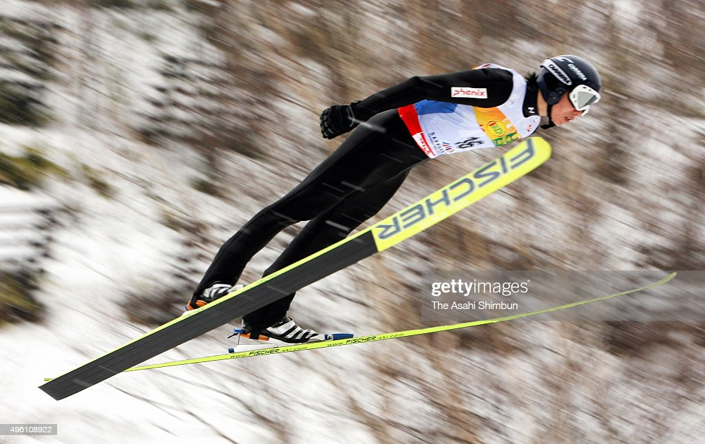 Taihei Kato of Japan competes in the Jump of the Men's Nordic Combined 7.5km Sprint at Okurayama Jump Stadium on February 23, 2007 in Sapporo, Hokkaido, Japan.