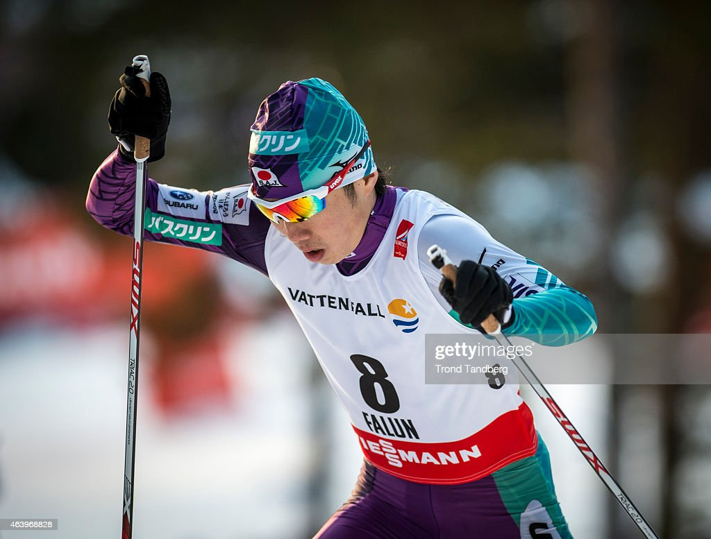 Taihei Kato of Japan competes in the Mens InduvidualGundersen 10.0 during the FIS World Nordic World Championships on February 20, 2015 in Falun, Sweden. (Photo by Trond Tandberg/Getty Images