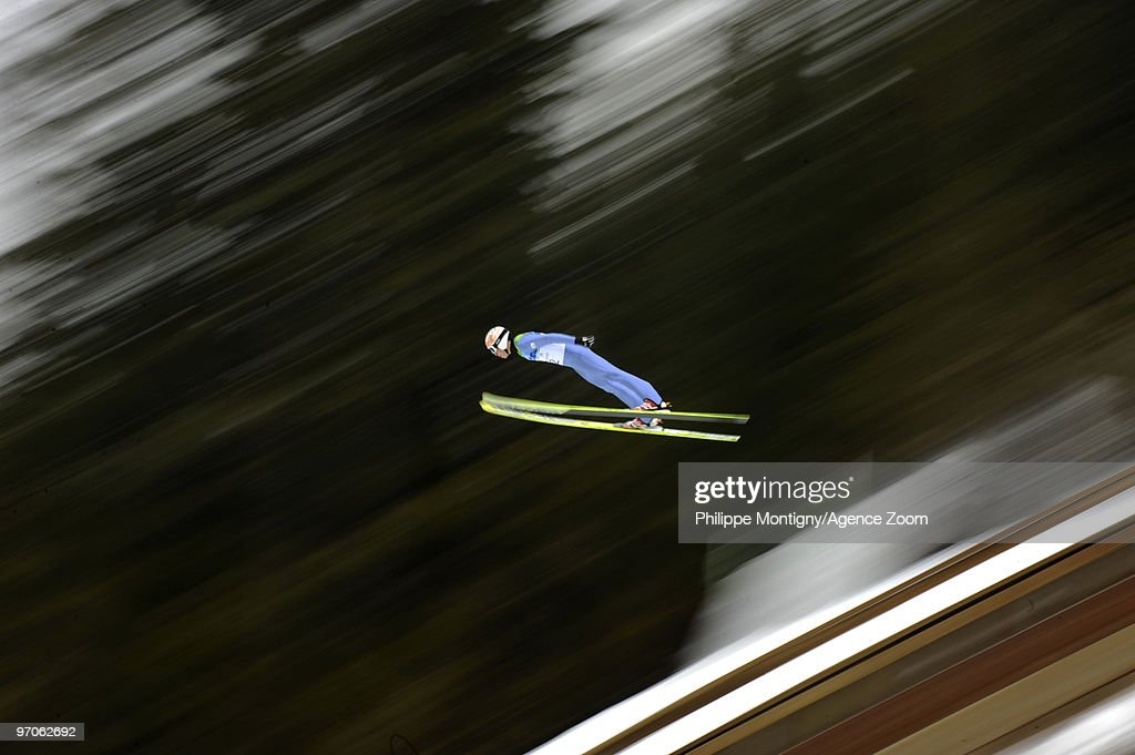 <a gi-track='captionPersonalityLinkClicked' href=/galleries/search?phrase=Taihei+Kato&family=editorial&specificpeople=4855042 ng-click='$event.stopPropagation()'>Taihei Kato</a> of Japan during the Nordic Combined Individual LH/10km on Day 14 of the 2010 Vancouver Winter Olympic Games on February 25, 2010 in Whistler Olympic Park, Canada.