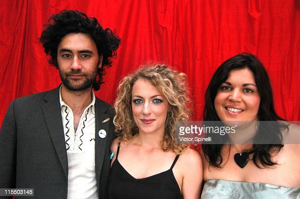 Taika Waititi Loren Horsely and Ainsley Gardinar during TMG Luxury Suite Day 2 at Luxe Hotel in Beverly Hills California United States