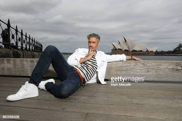 Taika Waititi poses during a photo call for Thor Ragnarok on October 15 2017 in Sydney Australia