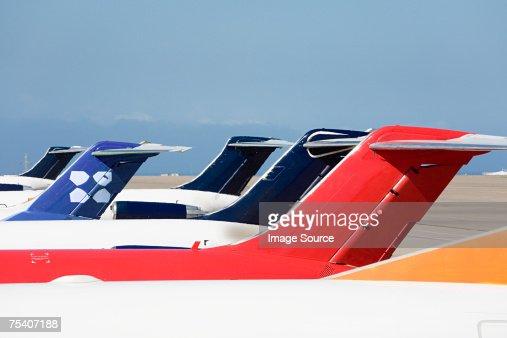 Tail fin of an aeroplane : Stock Photo