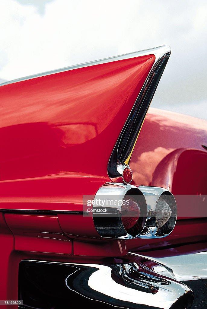 Tailfin of classic American car : Stock-Foto