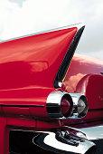 Tailfin of classic American car
