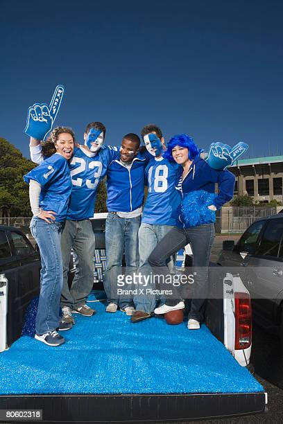 Tailgating football fans