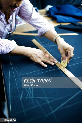 Tailor at work. : Foto de stock