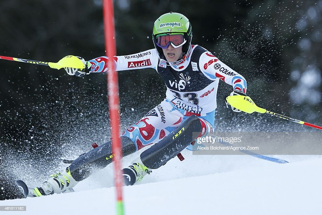 <a gi-track='captionPersonalityLinkClicked' href=/galleries/search?phrase=Taina+Barioz&family=editorial&specificpeople=5589542 ng-click='$event.stopPropagation()'>Taina Barioz</a> of France competes during the Audi FIS Alpine Ski World Cup Women's Slalom on January 04, 2015 in Zagreb, Croatia.