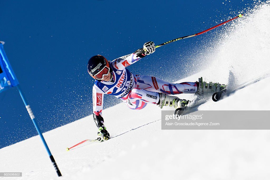 <a gi-track='captionPersonalityLinkClicked' href=/galleries/search?phrase=Taina+Barioz&family=editorial&specificpeople=5589542 ng-click='$event.stopPropagation()'>Taina Barioz</a> of France competes during the Audi FIS Alpine Ski World Cup Women's Giant Slalom on December 20, 2015 in Courchevel, France.