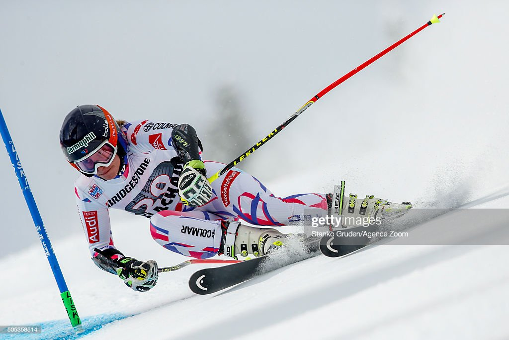 <a gi-track='captionPersonalityLinkClicked' href=/galleries/search?phrase=Taina+Barioz&family=editorial&specificpeople=5589542 ng-click='$event.stopPropagation()'>Taina Barioz</a> of France competes during the Audi FIS Alpine Ski World Cup Women's Giant Slalom on January 17, 2016 in Flachau, Austria.