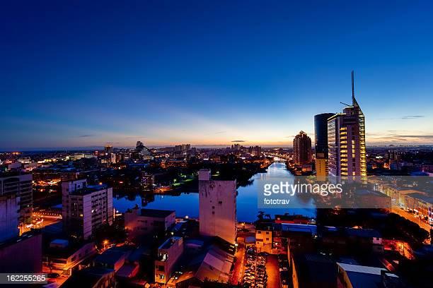Tainan city night skyline