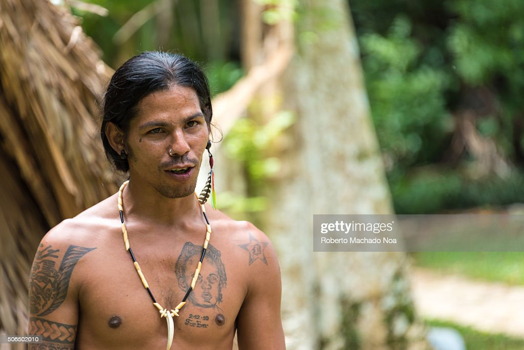 Taino Arawak Cuban indians cultur, recreation scene ...