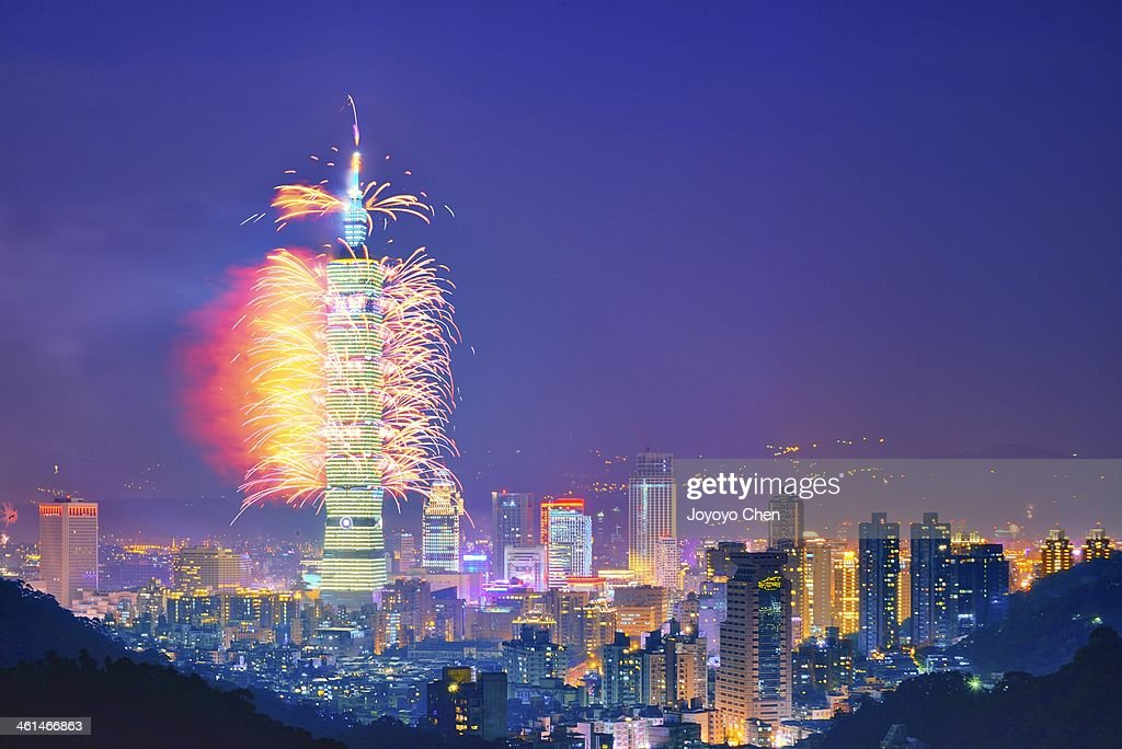 2014 Taipei 101 New Year's fireworks show