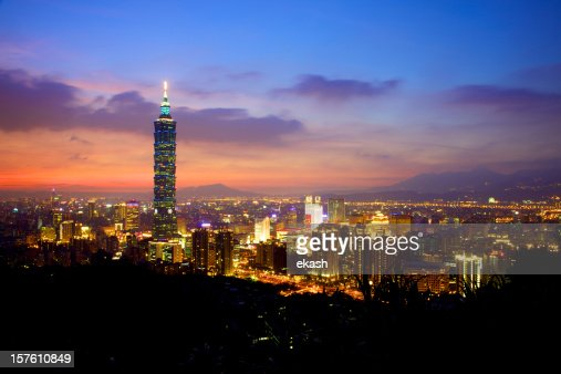 Taipei City Skyline after Sunset