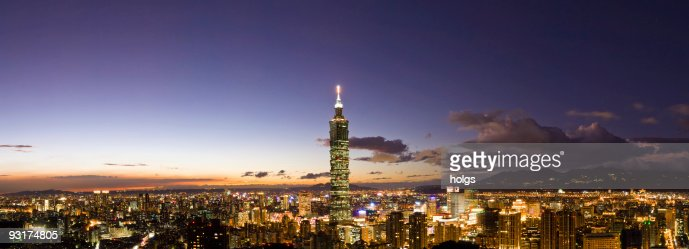 Taipei City Skyline at Night, Taiwan