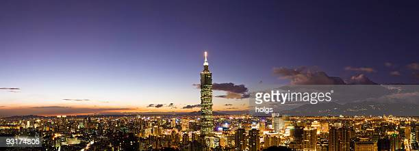 Ville de nuit de Taipei, Taiwan