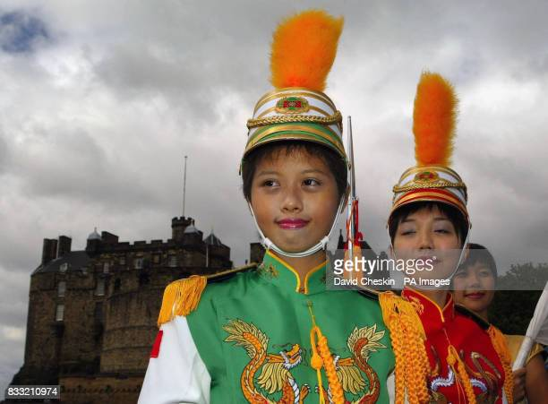 Taipei's First Girls Senior High School Guard Drum Corps visit Edinburgh Castle for the first time ahead of their performance at the Edinburgh Tattoo...