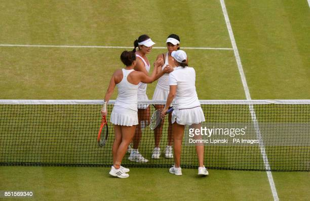 Taipei's SuWei Hsieh and China's Shuai Peng celebrate winning their Ladies' Doubles Final against Australia's Ashleigh Barty and Casey Dellacqua...