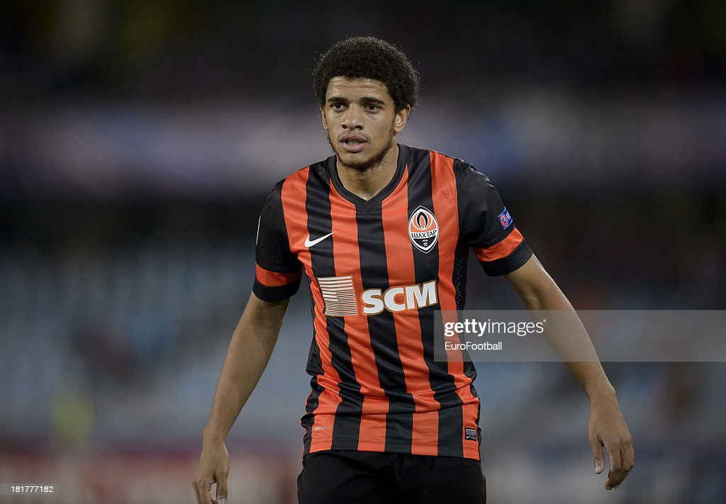<a gi-track='captionPersonalityLinkClicked' href=/galleries/search?phrase=Taison&family=editorial&specificpeople=5613080 ng-click='$event.stopPropagation()'>Taison</a> of FC Shakhtar Donetsk in action during the UEFA Champions League group stage match between Real Sociedad de Futbol and Shakhtar Donetsk held on September 17, 2013 at the Anoeta Stadium in San Sebastian, Spain.