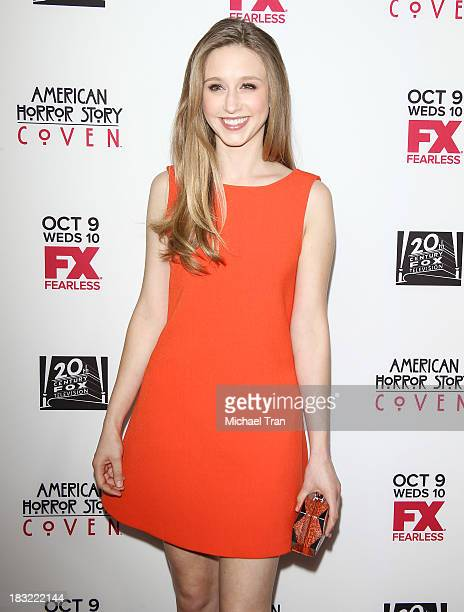 Taissa Farmiga arrives at the premiere of FX's 'American Horror Story Coven' held at Pacific Design Center on October 5 2013 in West Hollywood...