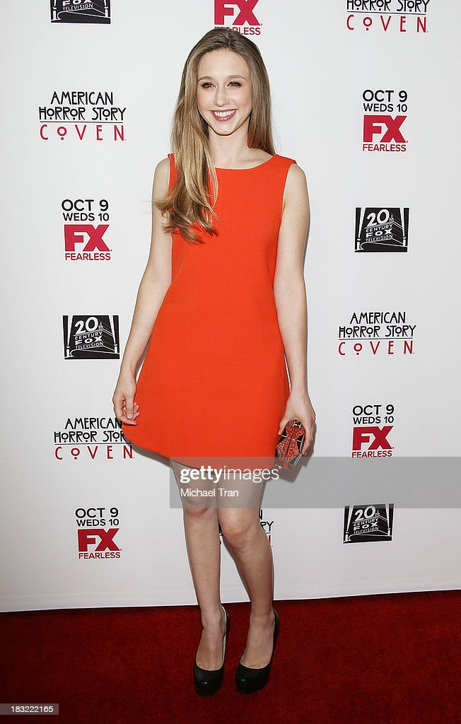 Taissa Farmiga arrives at the premiere of FX's 'American Horror Story: Coven' held at Pacific Design Center on October 5, 2013 in West Hollywood, California.